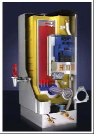步进式开水器内部结构图